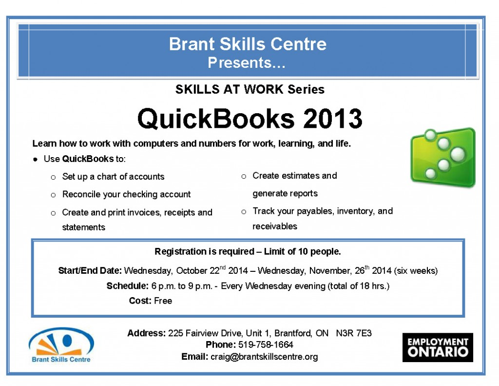 QuickBooks 2013 flyer