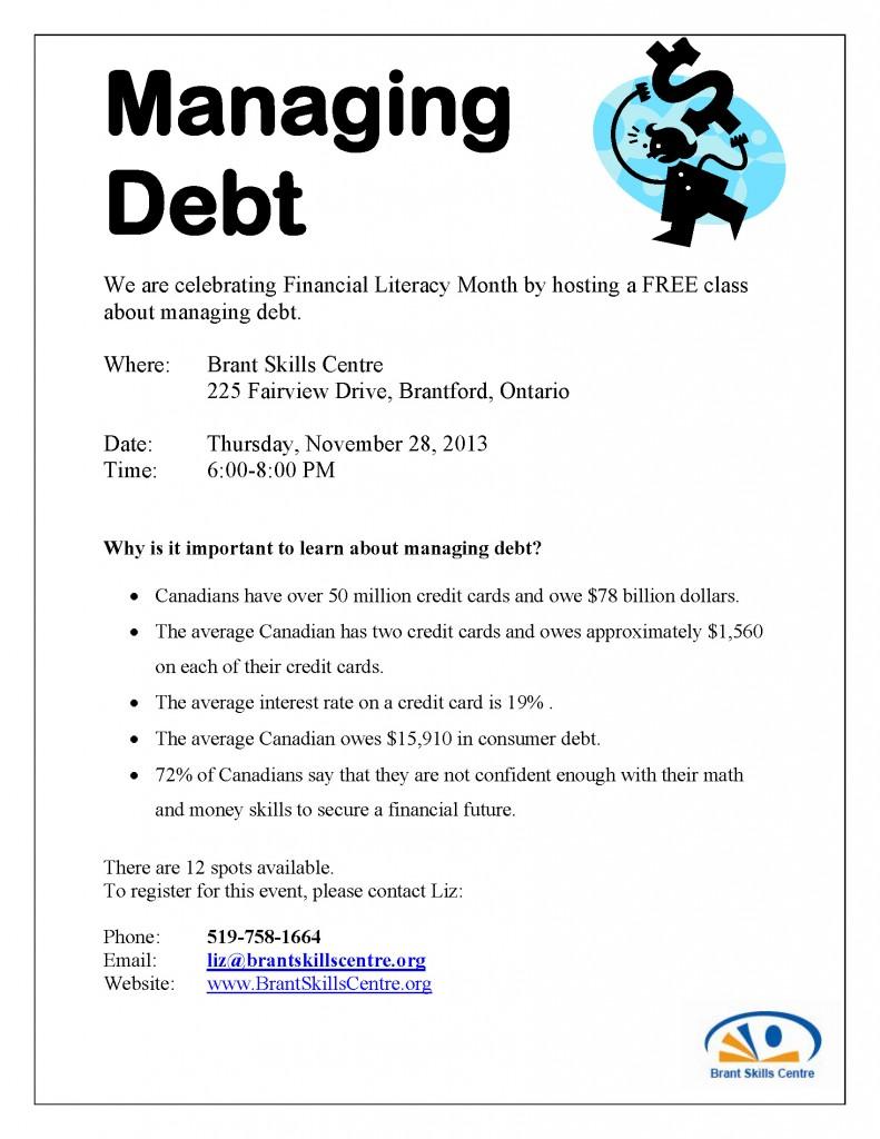 FinancialLiteracyMonth ManagingDebt2013