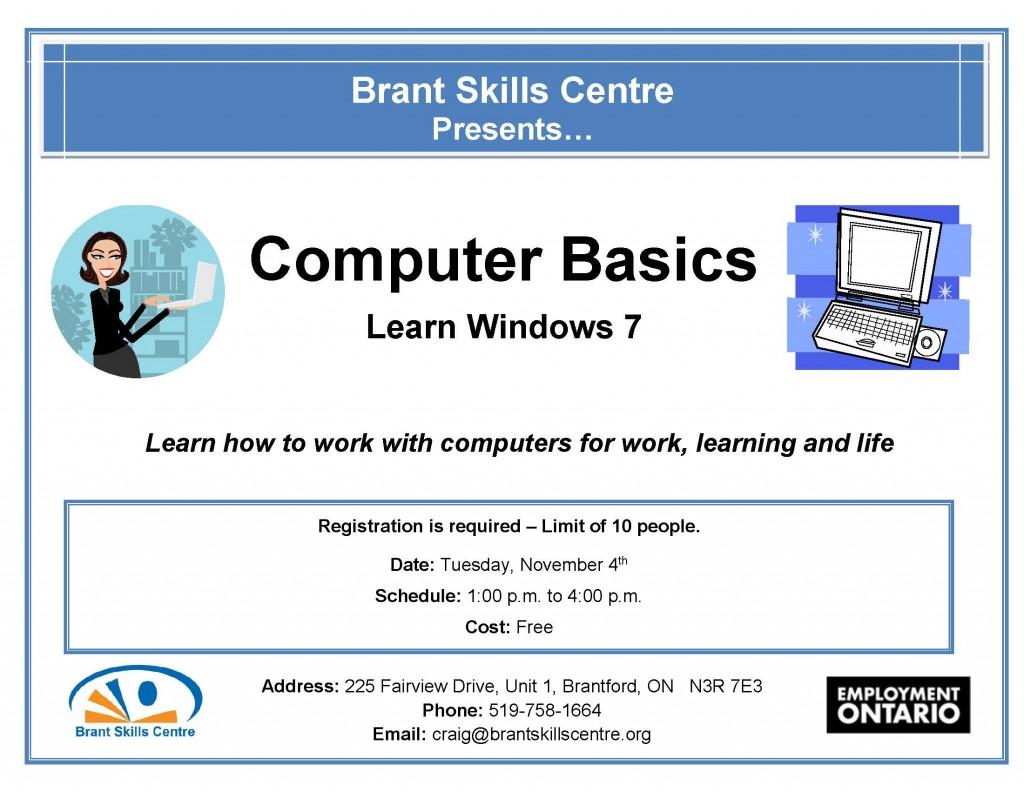 Computer Basics Brant Skills Centre Nov.4