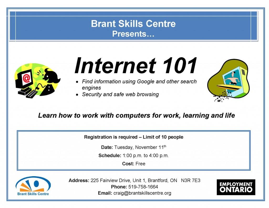 Internet Brant Skills Centre Nov. 11