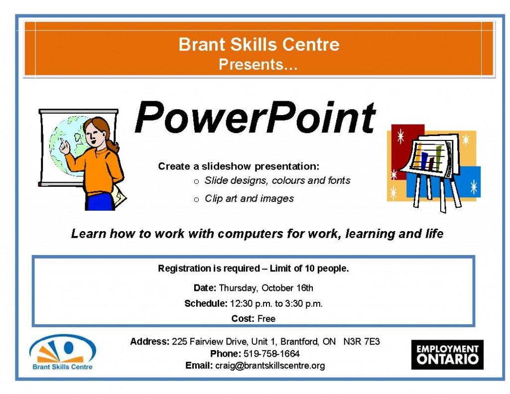 PowerPoint Brant Skills Centre