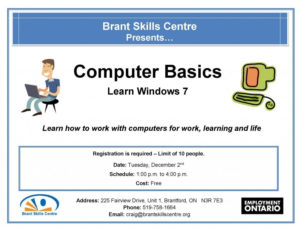 Computer Basics Brant Skills Centre Dec 2.