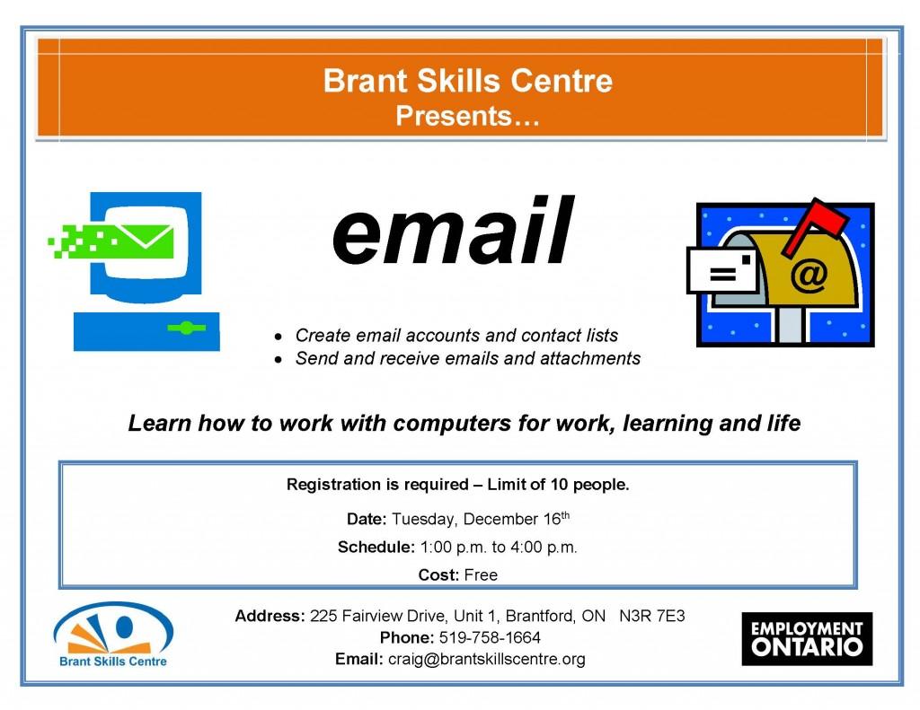 Email Brant Skills Centre Dec. 16