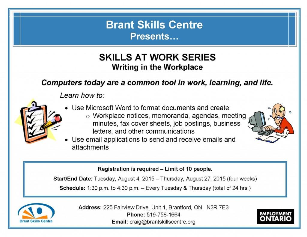 Skills At Work - WritingWork AUG2015